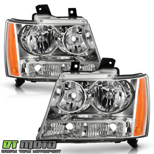 2007 2014 Chevy Avalanche Suburban Tahoe Headlights Lamps Replacement Left Right