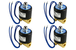 4 Lot 1 4 Npt Electric Brass Solenoid Air Water Valve Nc 12v Dc Pneumatic