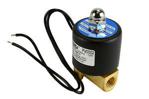 1 4 Npt Electric Brass Solenoid Air Water Valve Nc 110v Ac Pneumatic