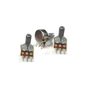 10 Pcs 100k Ohm Linear Taper Rotary Potentiometer Panel Pot B100k 15mm New