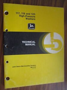 John Deere 117 118 120 High Pressure Washer Technical Repair Service Manual