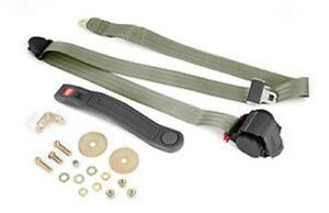 3 point Seat Belt Olive Retractable Universal Application X 13202 42