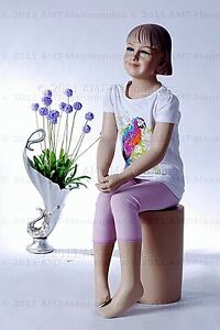 Child Mannequin Dessform Amt mannequins Sitting Girl Manequin ray 1pedestal