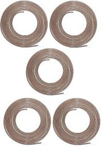 Cnc 325 3 16 Copper Nickel Brake Line 5 Pack Easy Bend Easy Flare 25ft Roll Usa