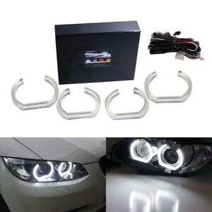 Acrylic Cover 7000k Led Angel Eye Halo Rings For Bmw 1 2 3 4 5 Series Retrofit