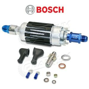 Real Bosch 044 Fuel Pump 8an Outlet 10an Inlet Fittings W Check Valve