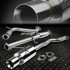 For 94 97 Accord Cd Bolt on Stainless Steel Catback Exhaust Muffler 4 rolled Tip