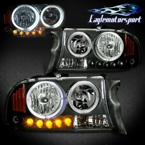 ccfl Halo 1997 2004 Dodge Dakota 1998 2003 Durango Black Led Headlights Pair