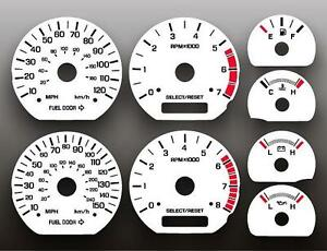 1999 2004 Ford Mustang 35th Anniversary Instrument Cluster White Face Gauges