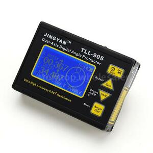 Tll 90s Angle Meter 0 005 Dual axis Digital Laser Inclinometer Protractor 5ts3