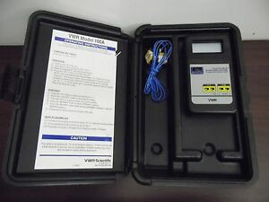 Vwr Model 100a Digital Thermometer Cat No 61220 157 15c
