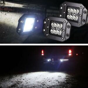2 Flush Mount 24w Cree Led Cubic Pod Lights For Truck Jeep Off road Atv