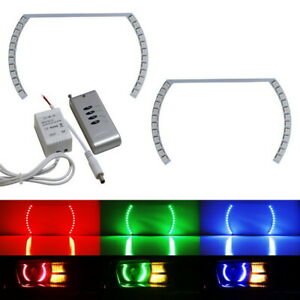 Style Rgb Multi Color Led Angel Eye Halo Rings For Camaro Challenger Mustang