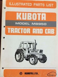 Parts Manual 07909 52770 For Kubota M8950 Tractor With Cab