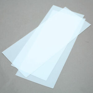 Polycarbonate Sheets 0 02 0 5mm Thick Clear 11 X 4 7 8 Pack Of 3