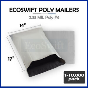 1 10000 14 X 17 ecoswift Poly Mailers Envelopes Plastic Shipping Bags 2 35 Mil