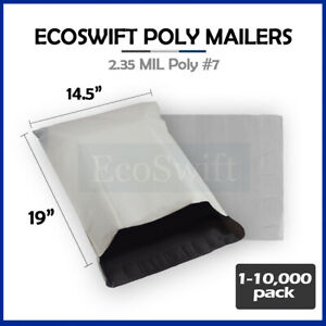 1 10000 14 5x19 ecoswift Poly Mailers Envelopes Plastic Shipping Bags 2 35 Mil