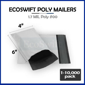 1 10000 4 X 6 ecoswift Poly Mailers Envelopes Plastic Shipping Bags 1 70 Mil