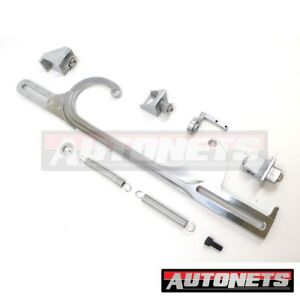 Holley 4150 4160 Silver Aluminum Throttle Cable Carb Bracket Carburetor 350