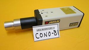Javelin Je 7442 Ultrichip Ccd Camera With Microscope Zoom Lense Used Working
