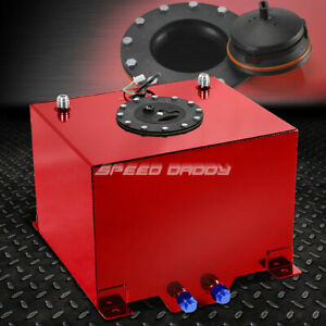 8 Gallon Red Coated Aluminum Racing Drifting Fuel Cell Gas Tank Level Sender