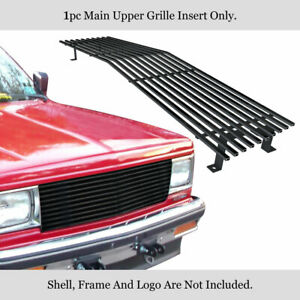 Fits 1982 1990 Chevy S 10 blazer s 15 jimmy Upper Stainless Black Billet Grille