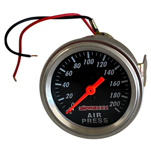 Air Gauge Single Needle 200psi Air Ride Suspension System Part 2 Black Face Led