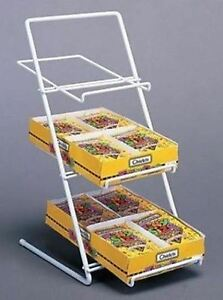 Counter Candy Gum And Snack Display Rack Slant Back white