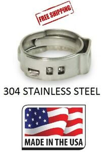 25 1 2 Stainless Steel Pex Clamps Cinch Rings For Crimp Style Pex Fitting Usa
