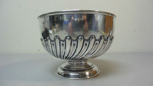English Sterling Silver 6 Pedestal Bowl C 1900 343 Grams