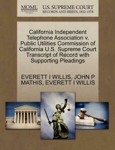California Independent Telephone Association v. Public Utilities Commission of C