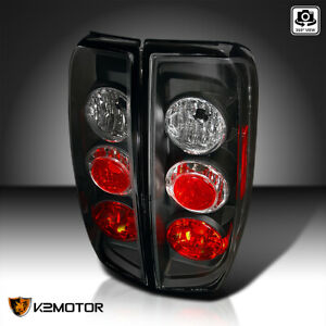 For 2005 2014 Nissan Frontier 2009 2012 Suzuki Equator Black Tail Lights Lamps