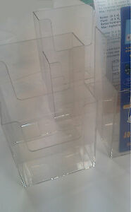11 Ea Of Clear Acrylic Display Case For Rack Cards 4 5 X 3 5 X 7 2 Layers