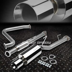 For 92 96 Prelude Bb1 Bb2 Ba8 4 Rolled Muffler Tip Racing Catback Exhaust System