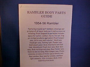 1954 1955 1956 Nash Rambler Country Club Cross Country Custom Body Parts Guide