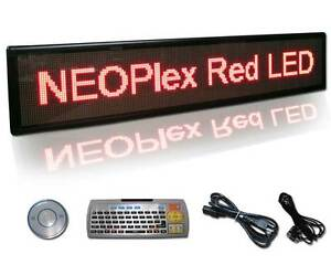 13 H X 61 W Programmable Scrolling 1 Color Red Led Message Window Met