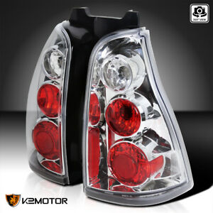For 2003 2005 Toyota 4runner Clear Tail Lights Rear Brake Lamps Replacement Pair