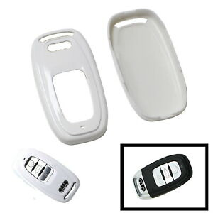 Exact Fit Gloss White Remote Smart Key Fob Shell For Audi A3 A4 A5 A6 A7 A8 Etc