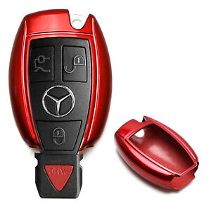 Exact Fit Glossy Red Remote Smart Key Fob Shell For Mercedes C E S M Class Etc