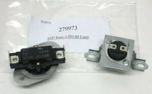 Dryer Thermostat Thermal Fuse Kit 279973 For Whirlpool 3391914