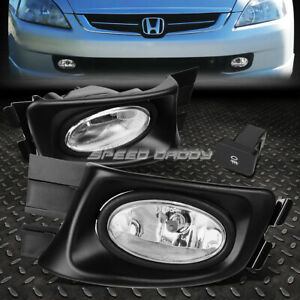 For Honda Accord 03 05 4 Dr Sedan Oe Bumper Fog Light Lamp Kit With Switch Wire