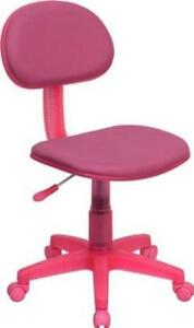 Flash Furniture Pink Fabric Ergonomic Task Chair Bt 698 pink gg Office Chairs