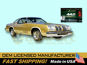 1976 1977 Oldsmobile 442 Stencil Decals Stripes Kit