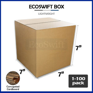 1 100 7x7x7 ecoswift Cardboard Packing Mailing Shipping Corrugated Box Cartons
