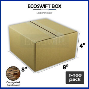 1 100 8x8x4 ecoswift Cardboard Packing Mailing Shipping Corrugated Box Cartons
