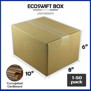 1 50 10x8x6 ecoswift Cardboard Packing Mailing Shipping Corrugated Box Cartons