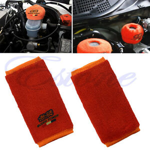 Pair Fire Proof Mugen Tank Reservoir Sock Cover For Honda Acura Civic Jdm