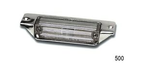 1957 57 Chevy Belair 210 150 License Plate Light Chrome Assembly Made In The Usa