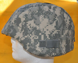 US Army ACH Helmet Cover with IR tab covers-Not Reversable Army Camo cover
