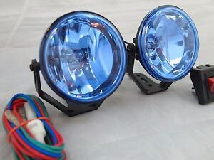 Universal 3 12v H3 55w Round Fog Lights Driving Lamps Harness Kit Truck Car